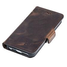 IPhone SE 5 5S Leder Handy Hülle Cover-Bouletta Wallet Schutzhülle N Possen braun