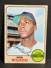 RARE 1968 Topps #77 Don Wilson AUTOGRAPH Houston Astros COA Rookie Card D.1975