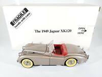 DANBURY MINT 1949 JAGUAR XK120 CONVERTIBLE 1:24 SCALE DIECAST W/ BOX