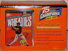 CAL RIPKEN Jr Baltimore Orioles 24k GOLD Signature Ed 75th An. Wheaties Mini Box