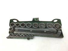 Vintage Indestro 1452 SAE Socket Set Tool Knucklehead Mechanic