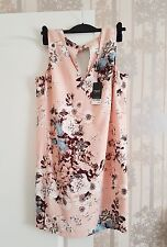 Next Beautiful Dress in Floral Peach Colour 14/42 New+Tags