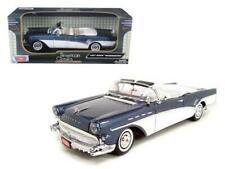 1957 Buick Roadmaster Convertible Blue 1/18 Diecast Model Car by Motormax