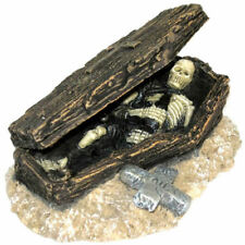 Skeleton & Coffin Air Action Aquarium Ornament MS898