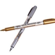 Metallic Marker Waterproof Paint 2pcs Set Gold Silver Pens Permanent Invitation