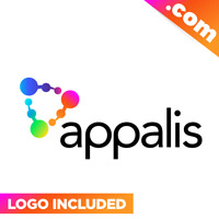 Appalis.com - Cool brandable domain name for sale Godaddy PREMIUM LOGO One Word