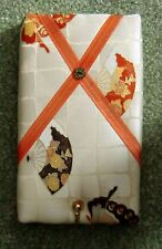 Fans Vintage Japanese Kimono silk covered ,Key Hanger/memo board