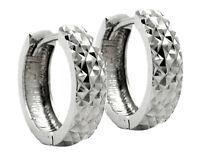 925 ECHT SILBER RHODINIERT ***  Creolen diamantiert 13 mm