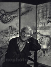 1965 Vintage MARC CHAGALL By YOUSUF KARSH Artist Portrait Painter Photo Art