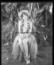 RARE ! CLARA BOW Original Vintage 1927 OTTO DYAR 8x10 Used Negative Hula Film