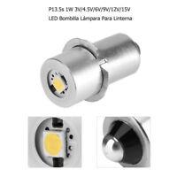 Reemplazo 3/4.5/6/9/12/15V P13.5S 1W LED Bombilla Lámpara Para Linterna
