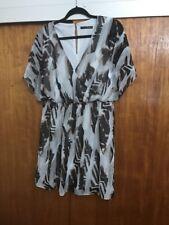 Atmosphere Primark Chiffon Mock Wrap Dress Size 16 Zebra Animal Print Party