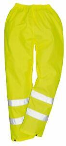 Portwest S480 En471 Hi Vis Trousers, Hi Vis Trousers Hi Vis Waterproofs