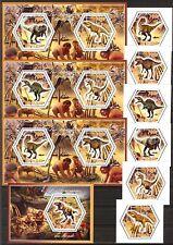 Chad 2014 Animals Dinosaurs set of 6 + 4 S/S MNH**