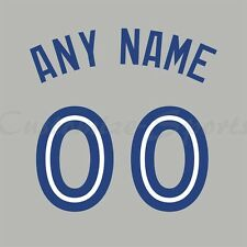 Béisbol Toronto Blue Jays Road Gris Camiseta Personalizado Número De Kit sin costura