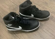 Nike Air Jordan 1 Retro Mid Metal Baseball Cleats Black White AV5355-001 Men Sz8