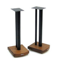 ATACAMA moseco 6 Speaker Stand 600 mm DARK BAMBOO Satin Black Rod (Coppia)