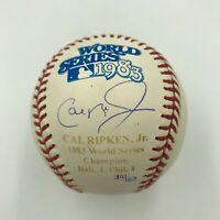 Beautiful Cal Ripken Jr. Signed 1983 World Series Baseball Steiner COA #39/83