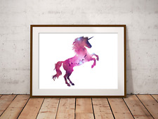 Unicorn Art Print, Filled With Galaxy Stars, Home Decor, Mythical Creature Art