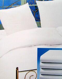 Kissenbezug Kopfkissenbezug Hülle verschiedene Größen 100% Baumwolle weiß
