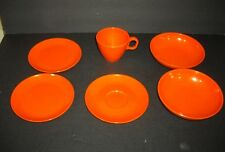 VNT Boonton Ware Melmac Orange Somerset 6 pieces goes with Somerset Plaid USA