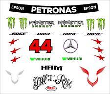 F1 Casco Adesivi Lewis Hamilton MERECEDES F1 ADESIVO KIT 1.1 Full Size Decalcomanie