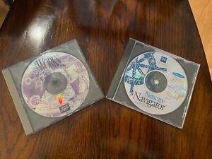 Netscape Navigator and Microsoft Works vintage Windows 3.1 CD-ROM combo