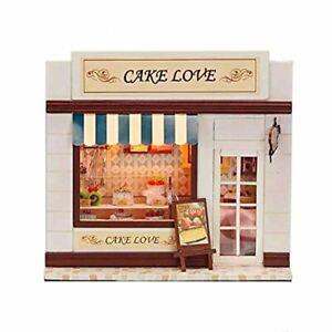 DIY Dollhouse Miniature Furniture Cake Love Shadow Box Kit
