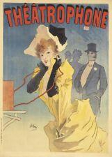 JULES CHERET Theatrophone, France, 1890, Art Nouveau Belle Epoque Poster