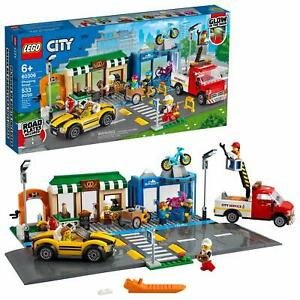 LEGO 60306 City Shopping Street Vehicles and Road Plates Set