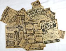 Vintage 1954 Toledo Ohio Drive In Movie Theater Newspaper Ad Lot (78)