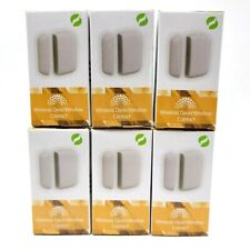 Ecolink Wireless Door Window Contact Zigbee Sensors 4655BC0-R White Lot Of 6