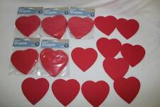 "New lot~Foam Shapes~4.5"" Red Hearts~5 pk~50 hearts~Tiny Crafts~Class Project"