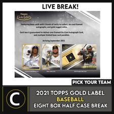2021 Caja de béisbol 8 TOPPS GOLD Etiqueta (mitad Case) romper #A1235 - Elige Tu Equipo