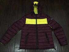 RARE🔥 Armani Jeans Colorblock Reversible Puffer Jacket Slim Fit 54/XL Men's