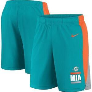 Brand New 2021 NFL Miami Dolphins Nike Broadcast Performance Dri-FIT Shorts NWT