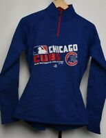 Chicago Cubs Majestic 1/4 Zip Pullover Softshell Women's Fan Fashion MLB Collect