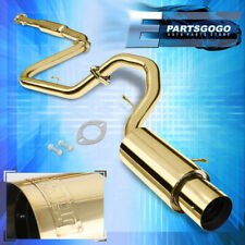 "4.5"" Gold Muffler Tip Catback Exhaust System For 00-05 Mitsubishi Eclipse Gs/Rs"