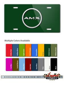 AMC AMX 1968 1969 Vintage Logo Novelty 6X12 Aluminum License Plate 16 Colors
