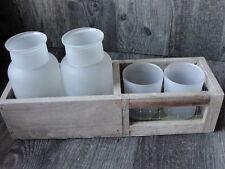 Deko-Tischvasen aus Holz fürs Wohnzimmer