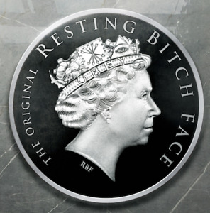 2019 Silver Shield 1 oz Resting Bitch Face RBF Proof OBEY! Queen's Beast SSG