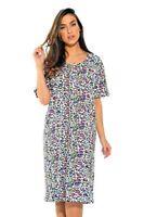 Womens Sleepwear Short Sleeve Nightgown Cotton Sleep Dress