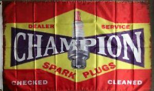 CHAMPION SPARK HUGE Flag..Classic car show, Man Cave, Garage, Shed