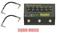 Tech 21 NYC SansAmp 3-Channel Programmable Bass Driver DI ( 2 FENDER CABLES )
