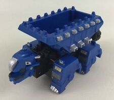 "Dinotrux Ton-ton 7"" Blue Dump Truck Dinosaur Dino Moving Rolling Toy Mattel A2"