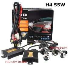 55W HID Bi-Xenon High/Low Conversion Kit Slim Ballasts Car Headlight H4-3 6000K