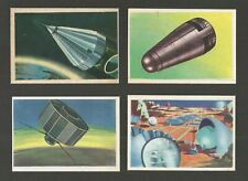 SPACESHIPS & SPACE EXPLORATION  -  Lot of 8 cards of 1960's
