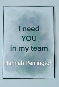 Handmade, Inspirational, Team Building, I need you in my team, Gift, craft,