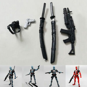 "Gun Sword Weapon Pack For 6"" Marvel X-Men Deadpool Action Figure Accessories"