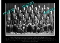 OLD 8x6 HISTORIC PHOTO OF UNIVERSITY OF MICHIGAN FOOTBALL TEAM 1931